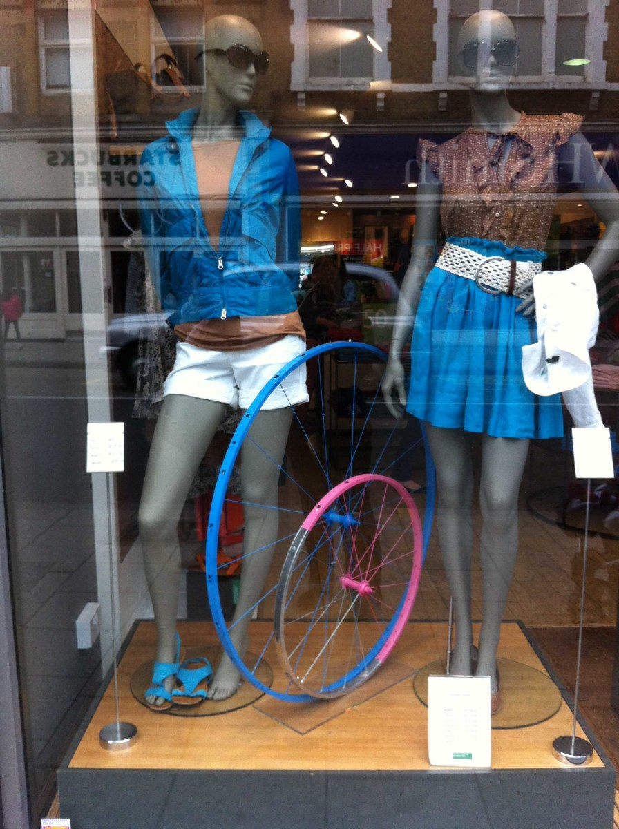 Using fun props make this window display stand out!