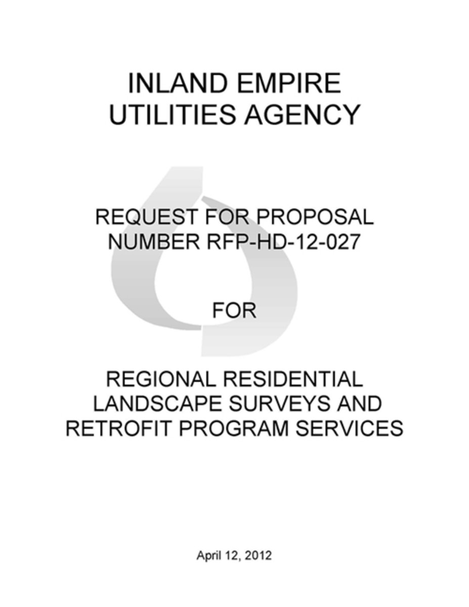RFP Cover Page