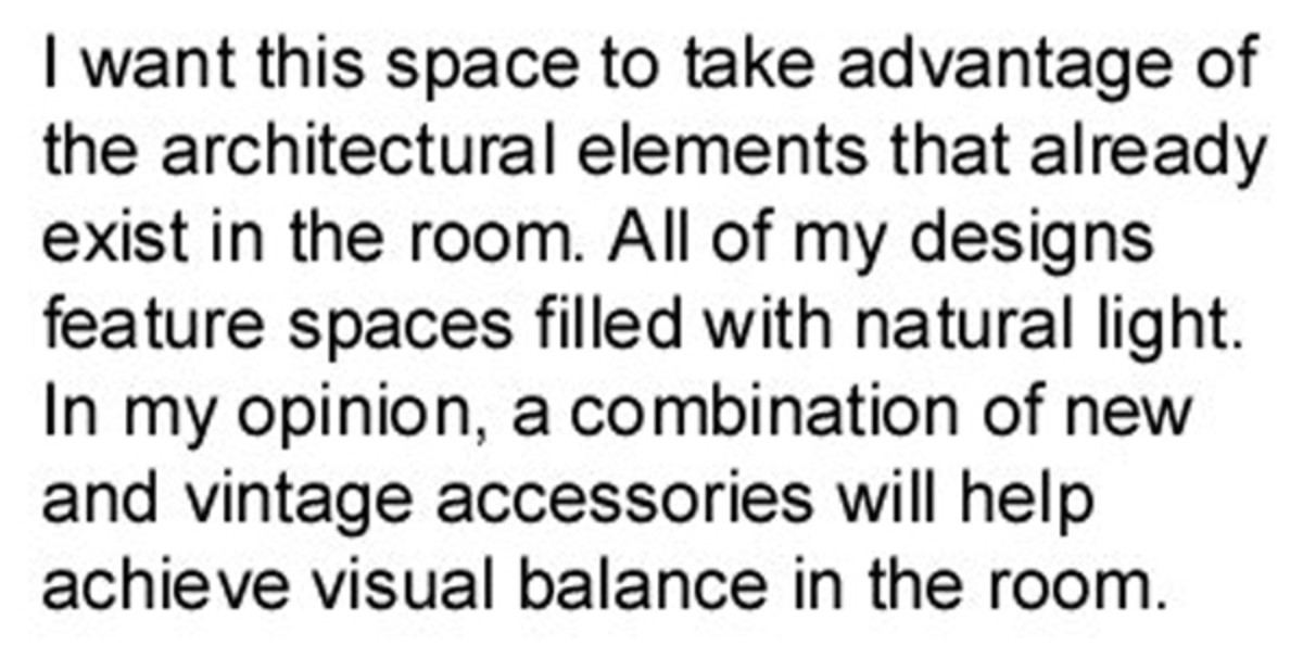 interior design concept statement example