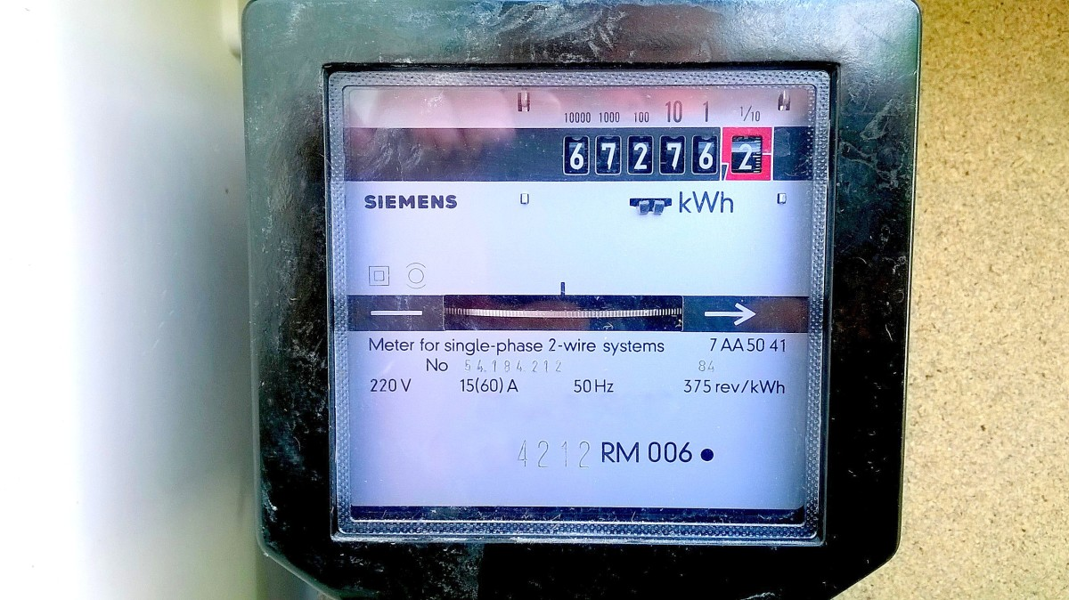 An electromechanical kilowatt hour meter