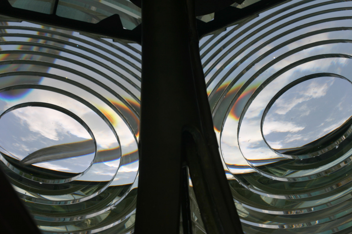 This is my favorite shot. Lighthouse lenses are so cool!