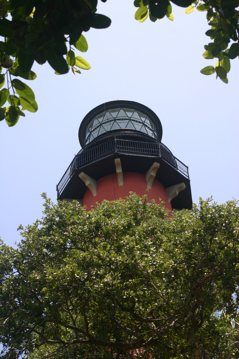 looking up at the lighthouse