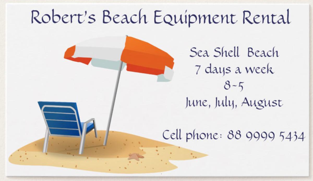 Beach Equipment Rental Business
