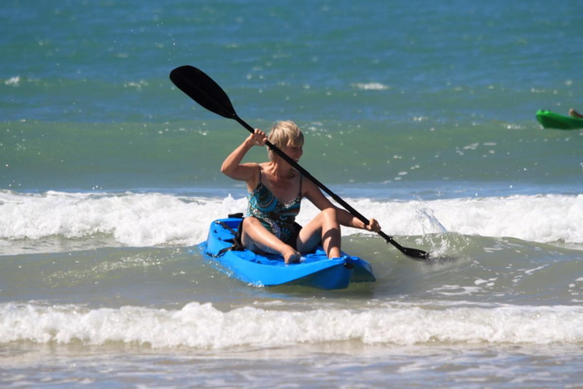 Kayaking at the beach