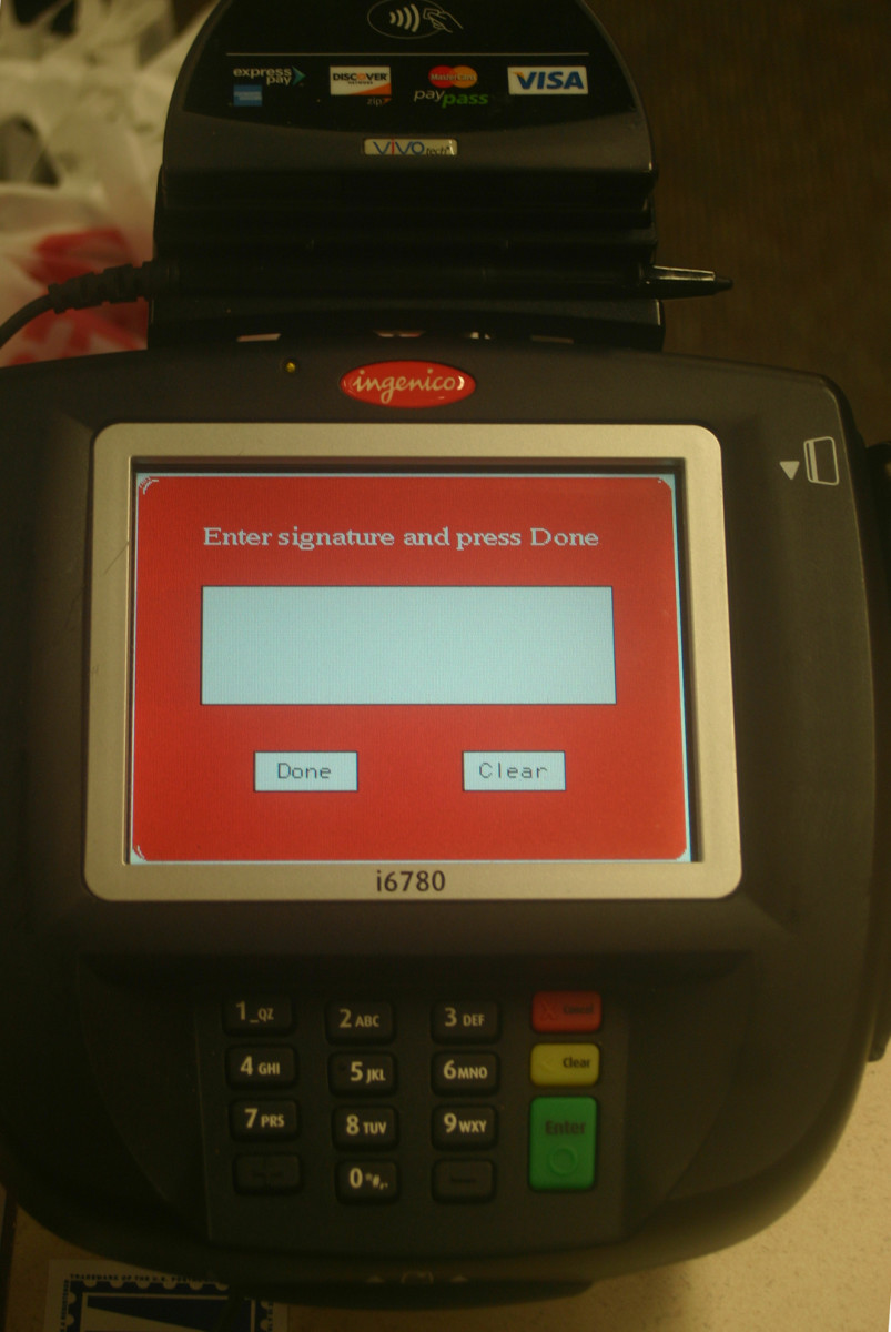 Credit card readers are part of POS (point of sale) systems, which integrate into operations management tools for finances, inventory, and customer relations management (CRM).