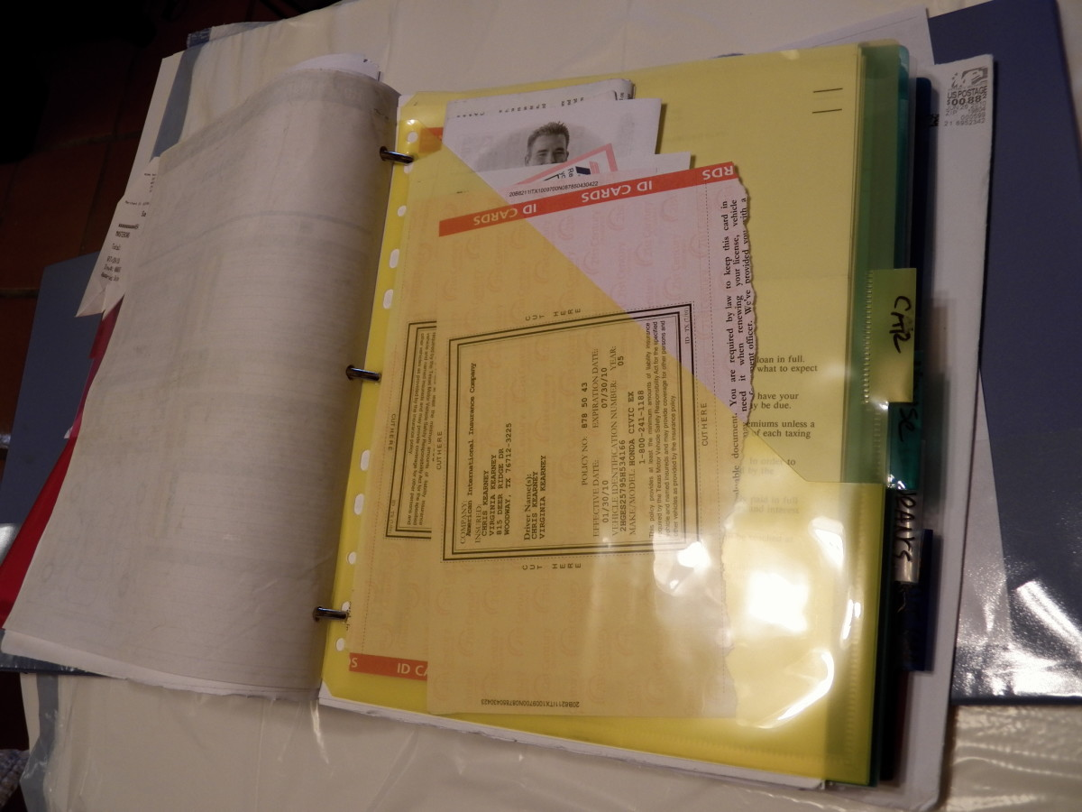 Binder System for Receipts is a bit more work but helps you find things quickly. Use Pocket Index Dividers for filing receipts that are smaller.
