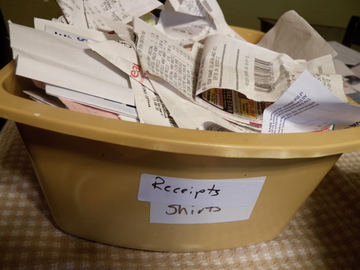 """Trash"" file for organizing receipts you aren't sure you need can save you time."