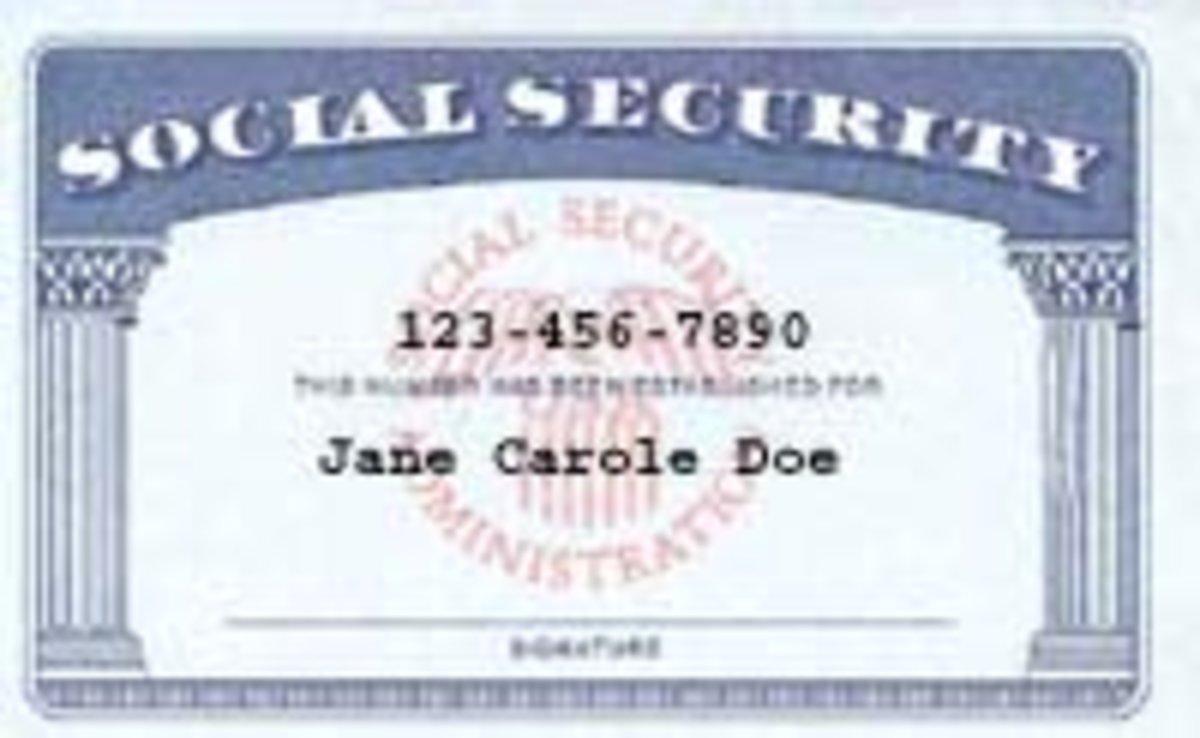 a Social Security card example