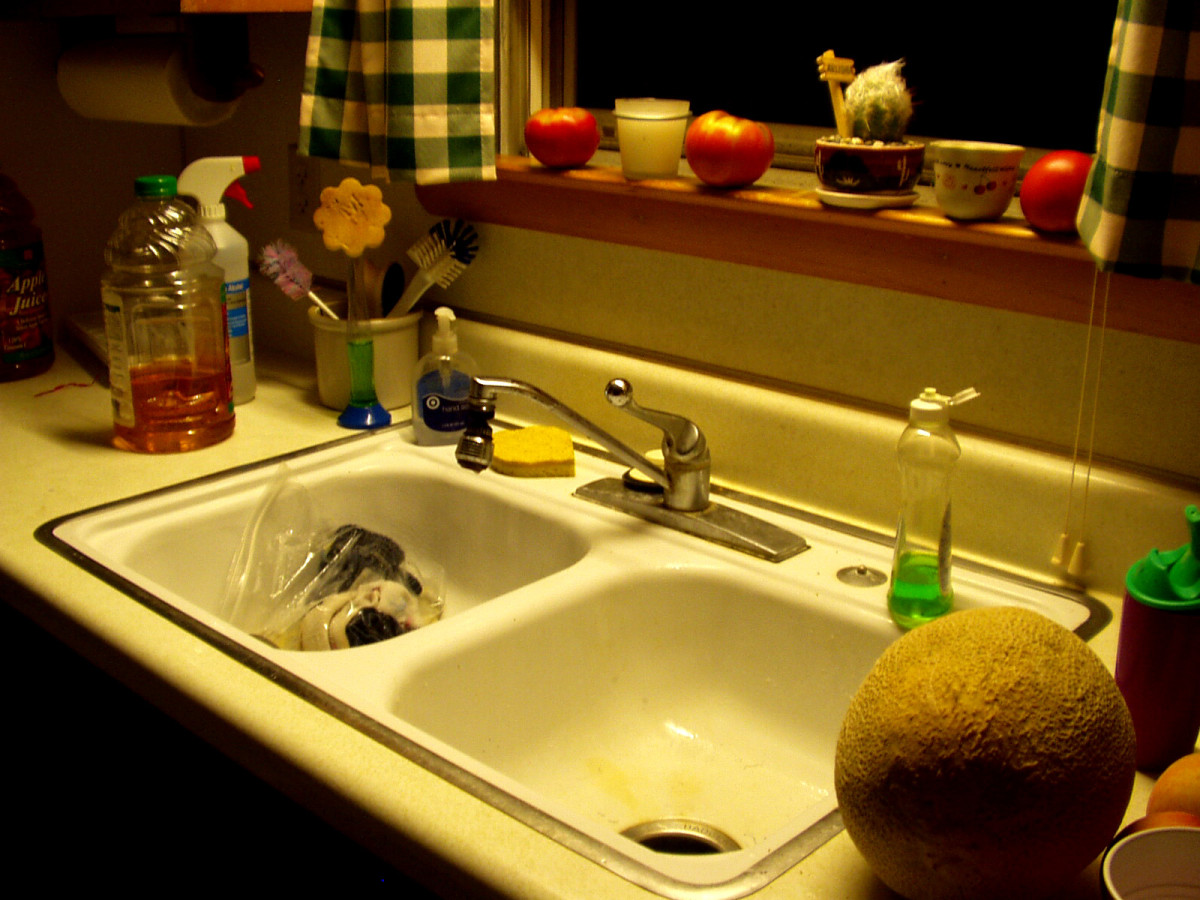 How much water needlessly goes down your kitchen sink drain?