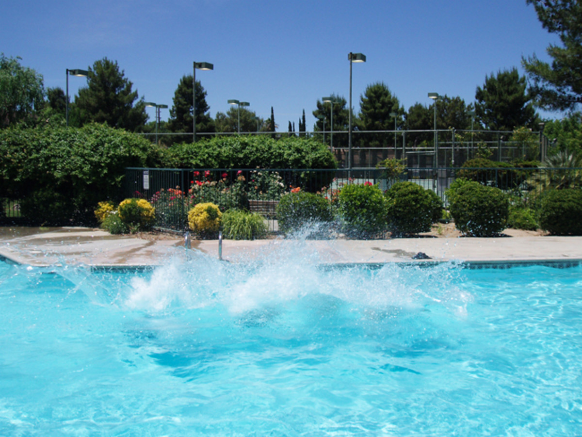 Cover your pool: There is a viscous liquid solution available that cuts down on pool evaporation. The liquid is nontoxic and most swimmers cannot tell it's there.