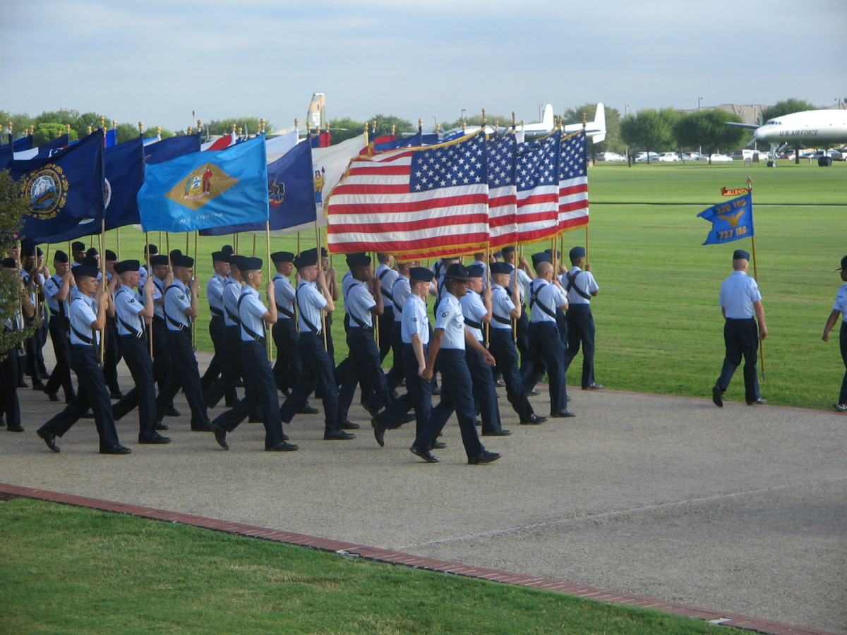 Air Force Basic Training Graduation At Lackland Air Force Base