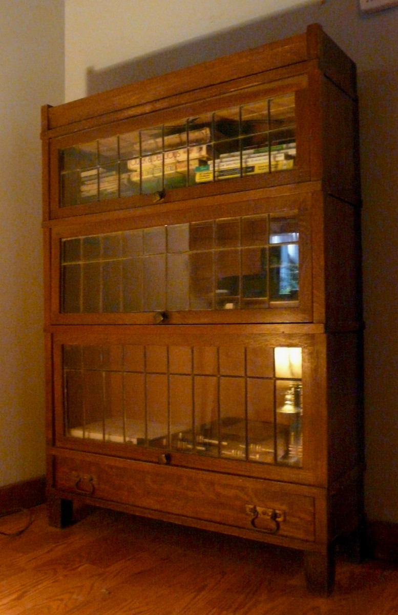 Leaded Glass Lawyers Book Case