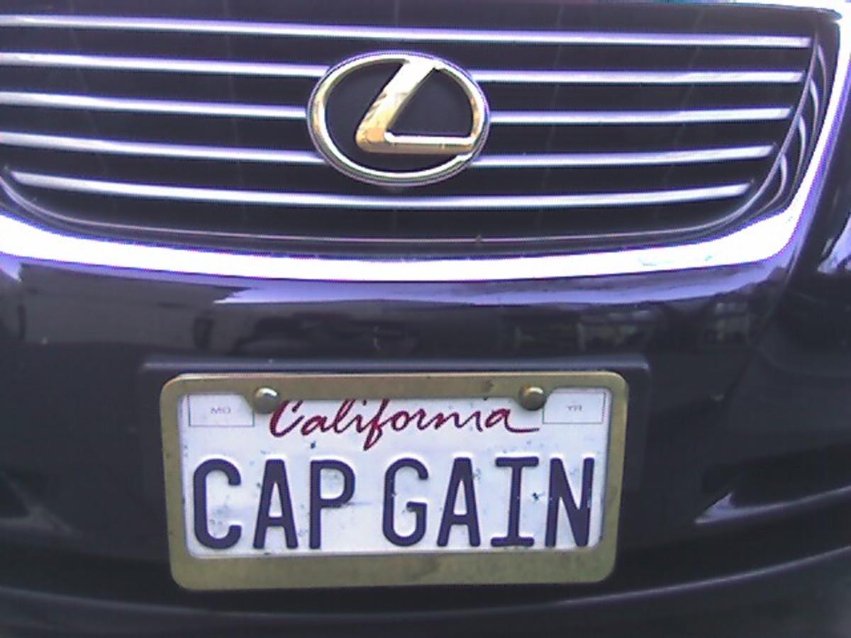 Cap Gain number plate