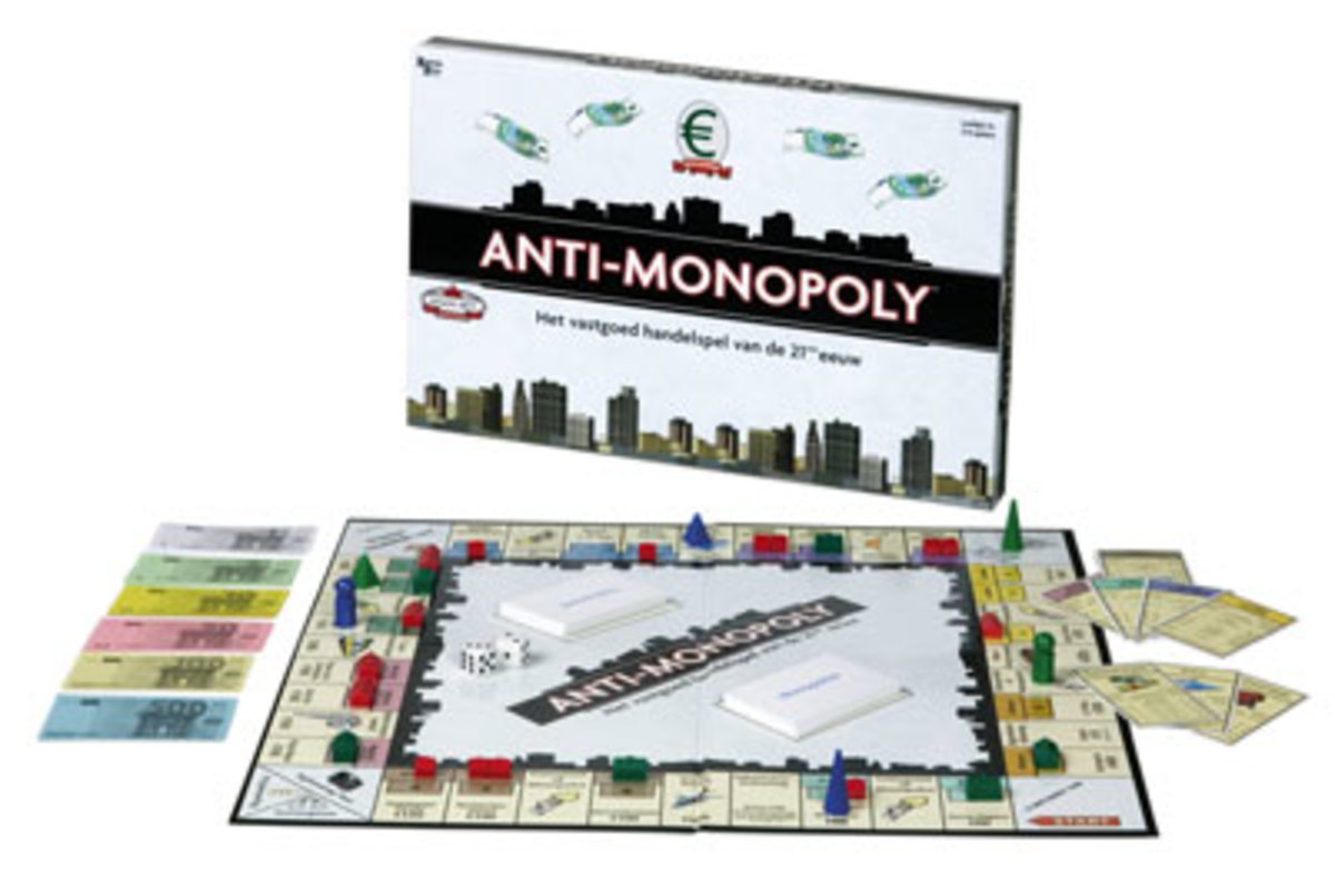 The bankers are playing a rigged version of Monopoly.