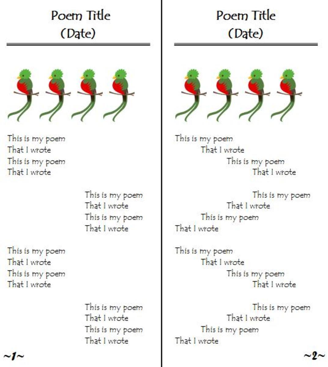 Custom write tips poetry
