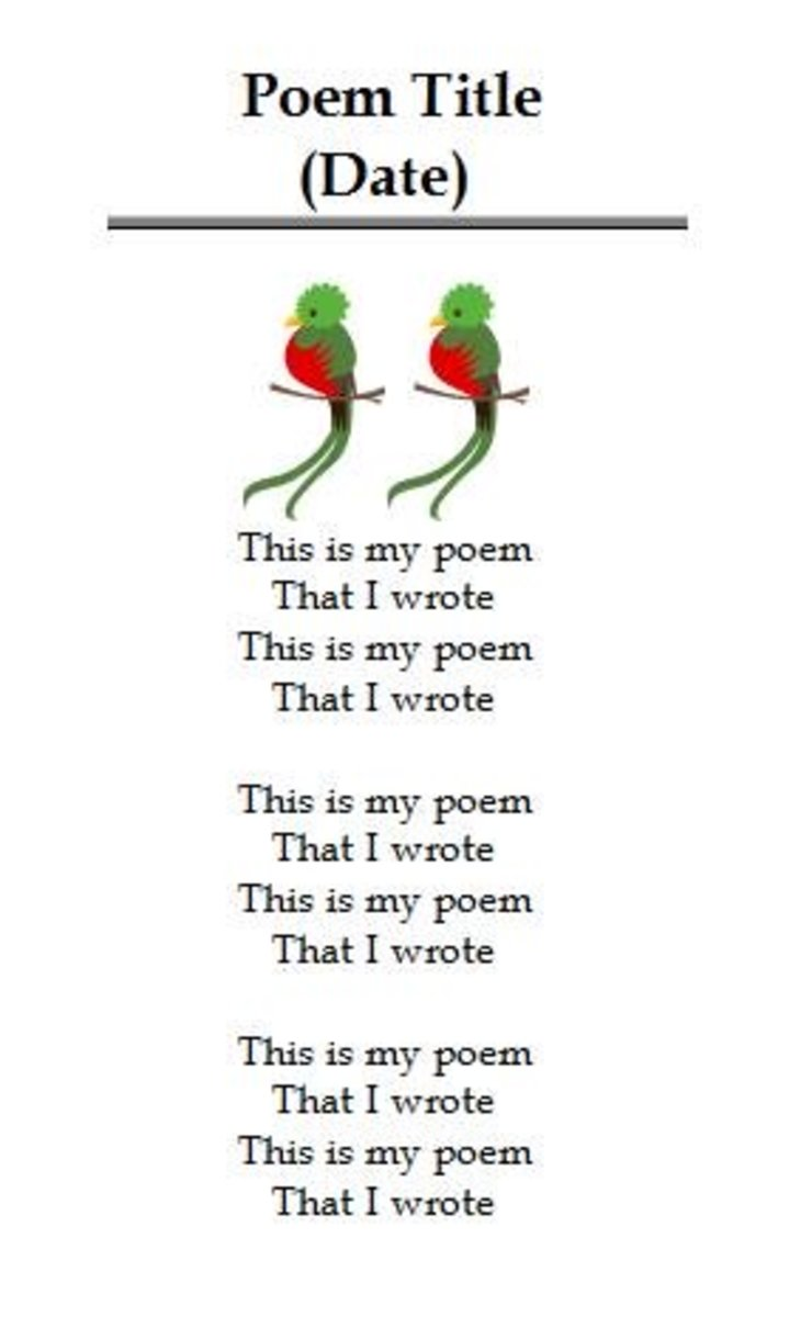 Adding images to your poetry.