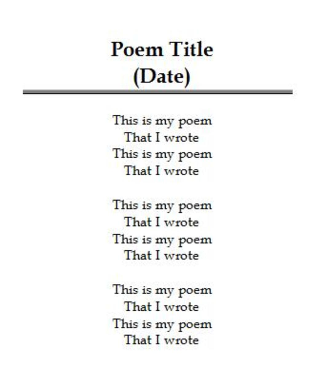 Tips on Formatting Poetry Books