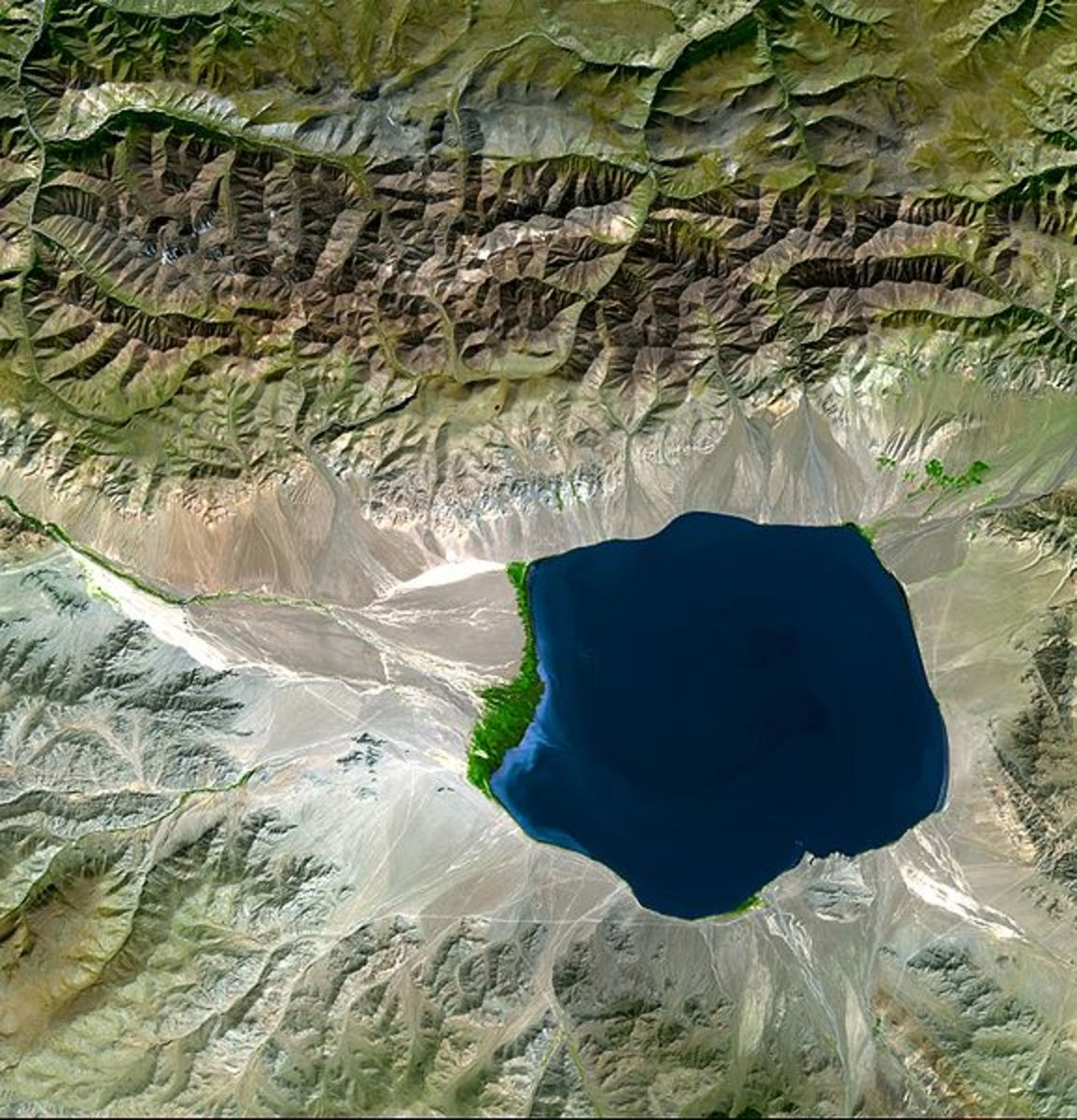 Uureg Nuur - an endorheic basin in Mongolia.