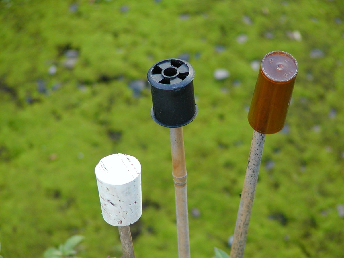 Corks, cotton reels and pill containers used to make canes safe