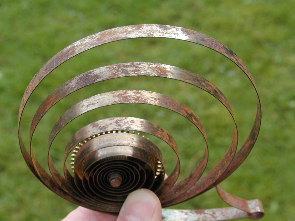 Clock springs can be used for making spring clips