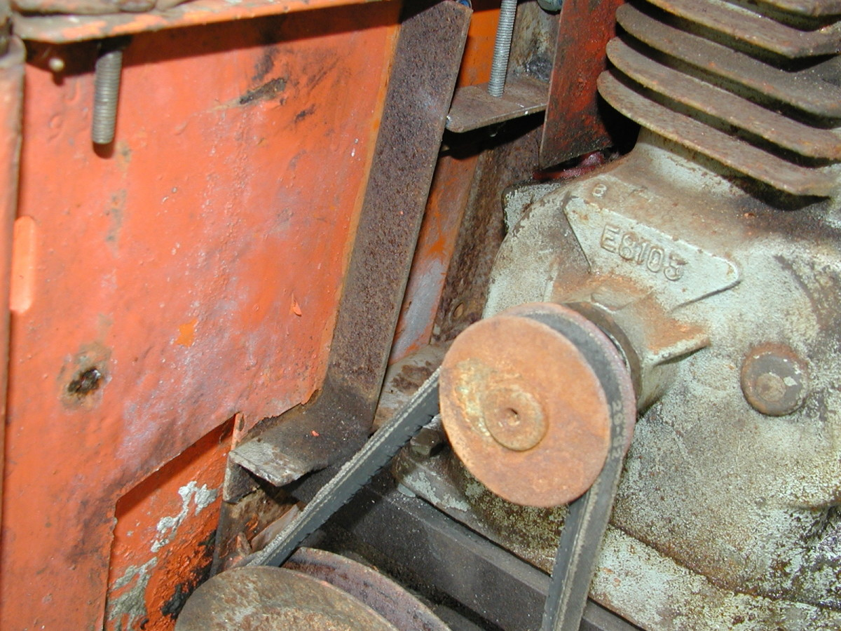 A leather gasket served as a perfect replacement on the sump of this Suffolk Punch lawn mower engine (Now used on a cement mixer!)