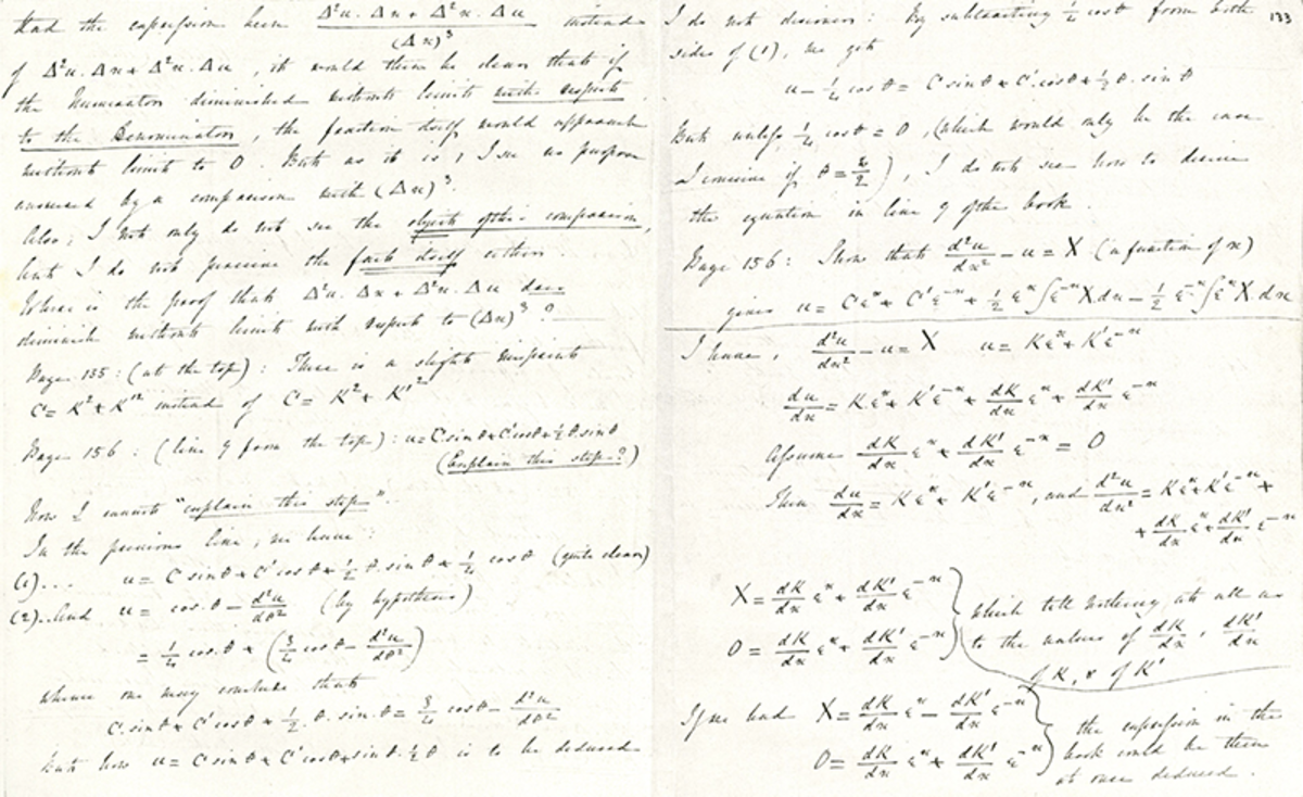 An Example of Ada Lovelace's Notes