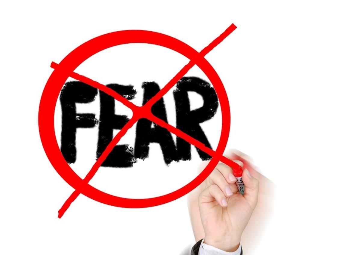 在提供公开演讲时不要表现出恐惧,否则整个事情可能会分崩离析。