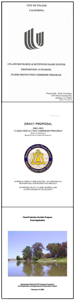 Three Samples Of Actual Cover Pages. All Are Grant Requests From Government  Agencies For Water  Business Proposal Cover Sheet