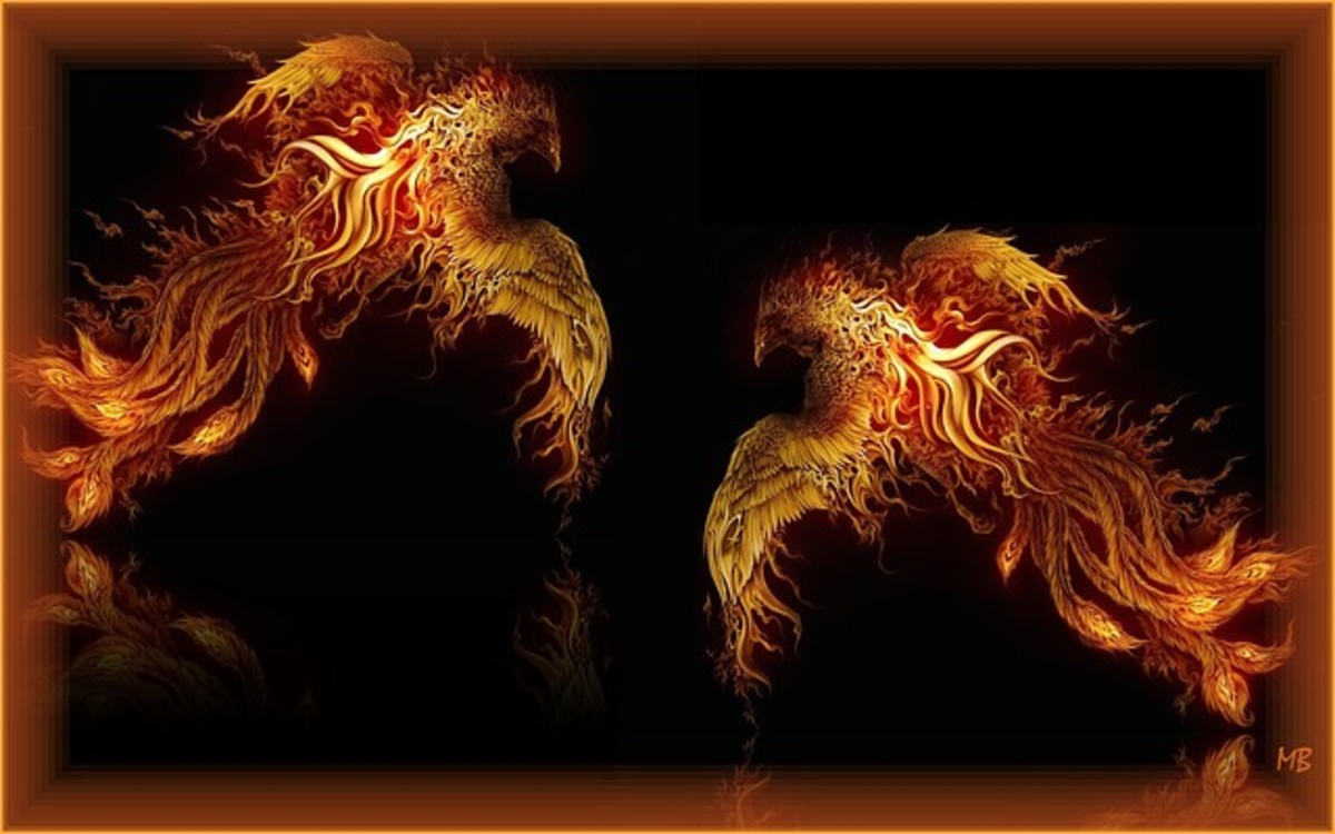 The phoenix represents new life and a new start.