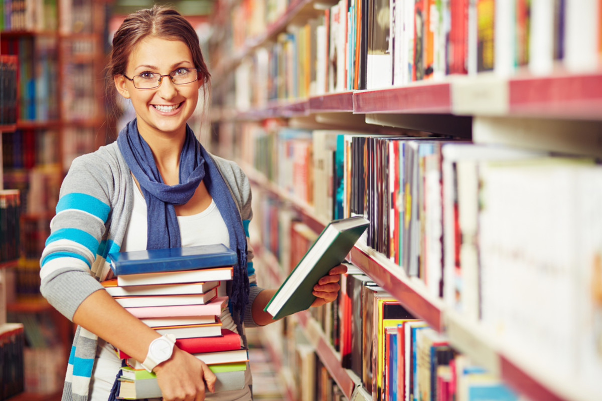 Save money by borrowing books and movies at the library or from friends.