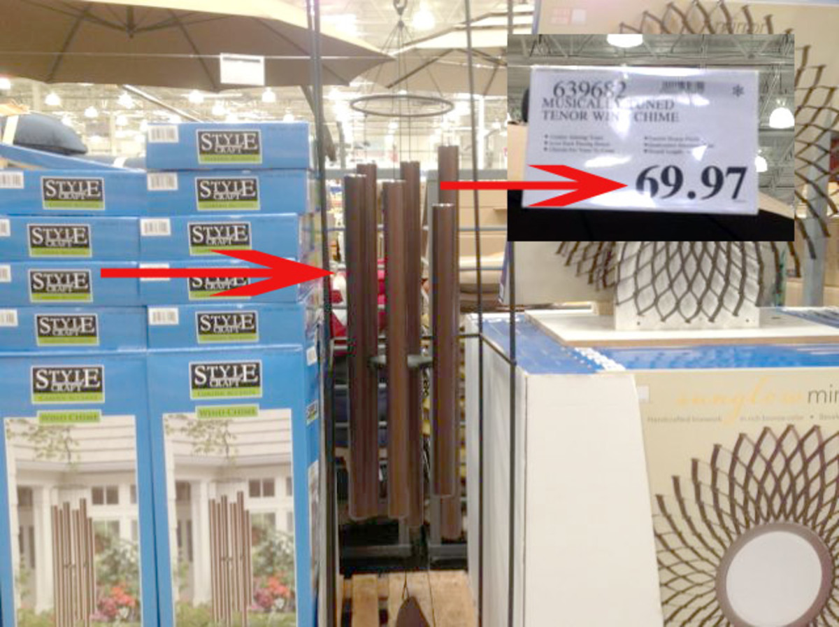 These beautiful wind chimes can now be yours for  only $69.97.  Still no action on them, I might step in when they hit $34.97 or less.  Lets watch this one. June 17 Update...now at $49.97, will go lower.