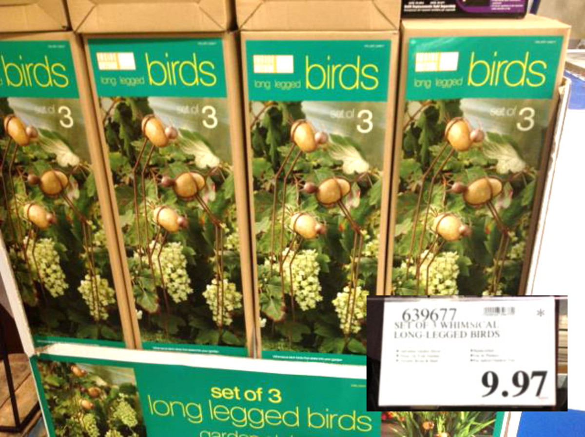Decorative Birds for the garden. I will like these at $5.97-$7.97 will wait and see.