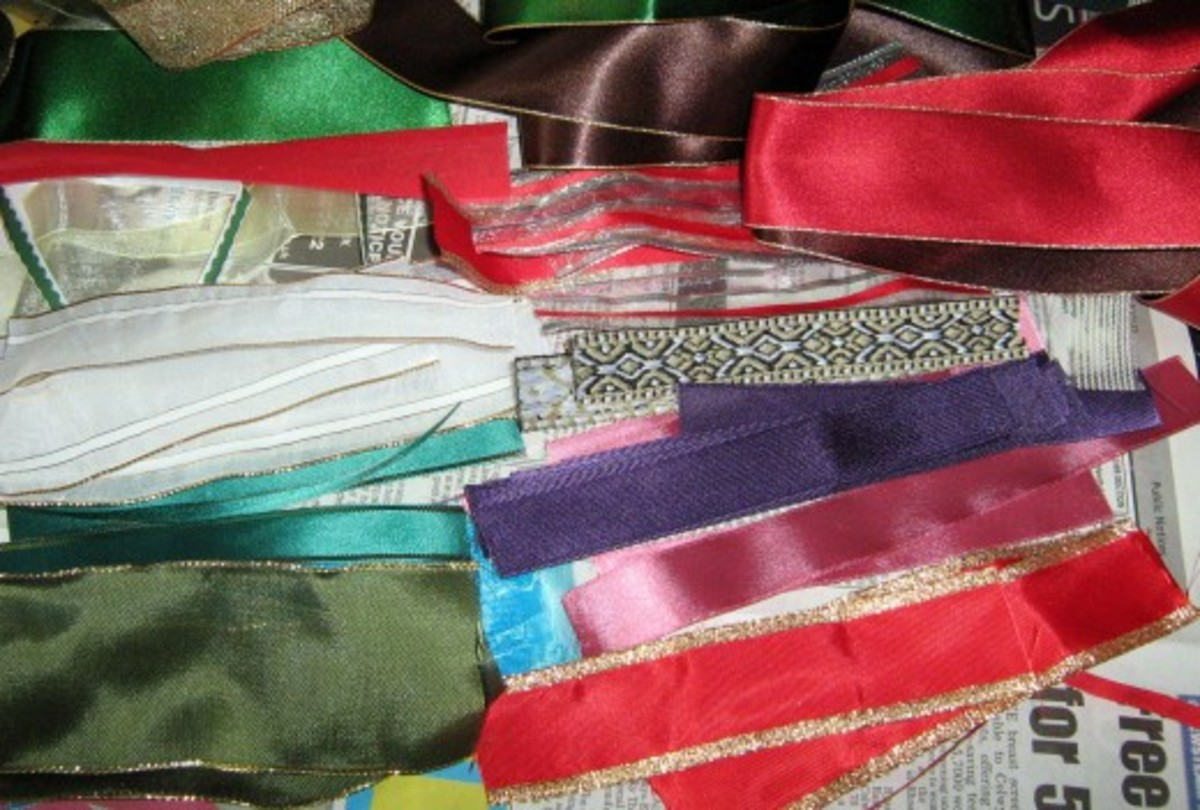 Ribbons and other Fabric