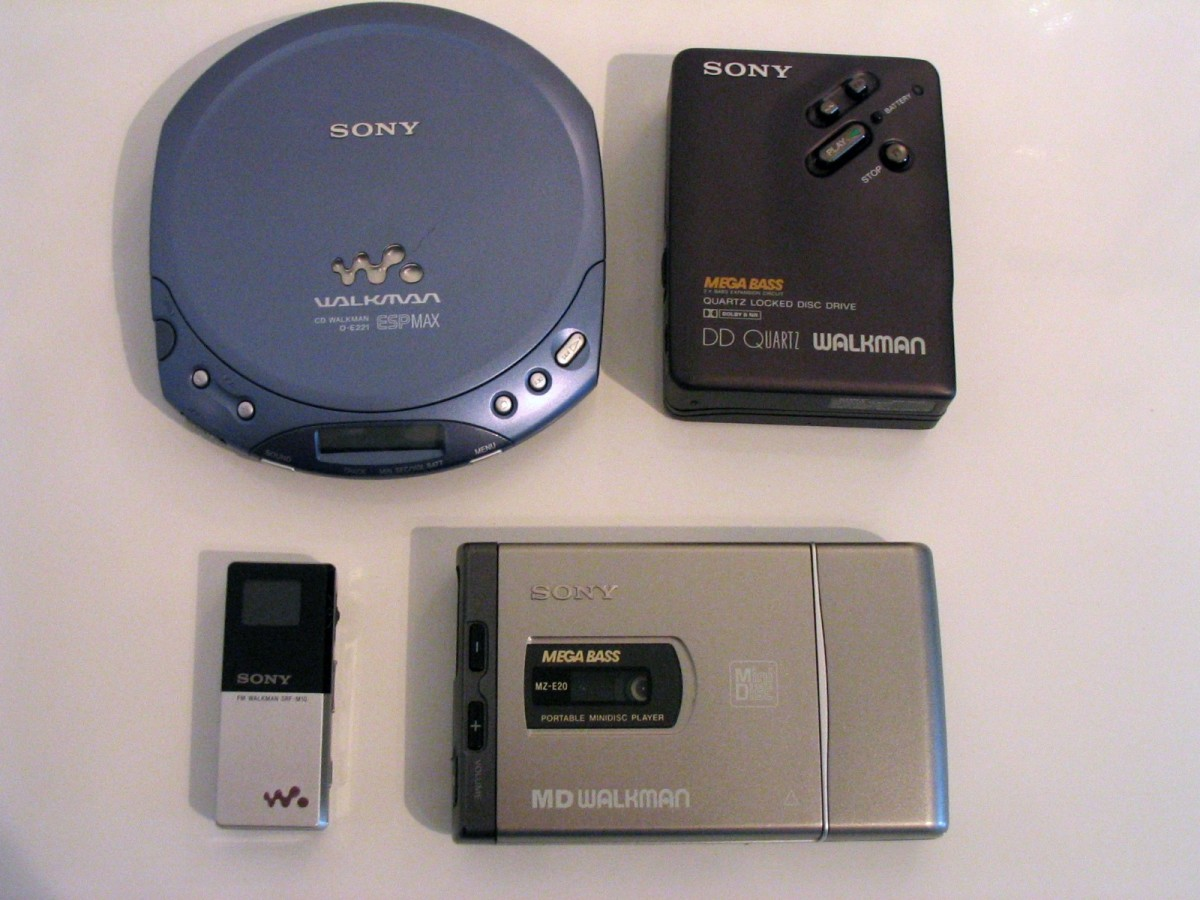 Members of the Sony Walkman line of products; photo by Marc Zimmermann.