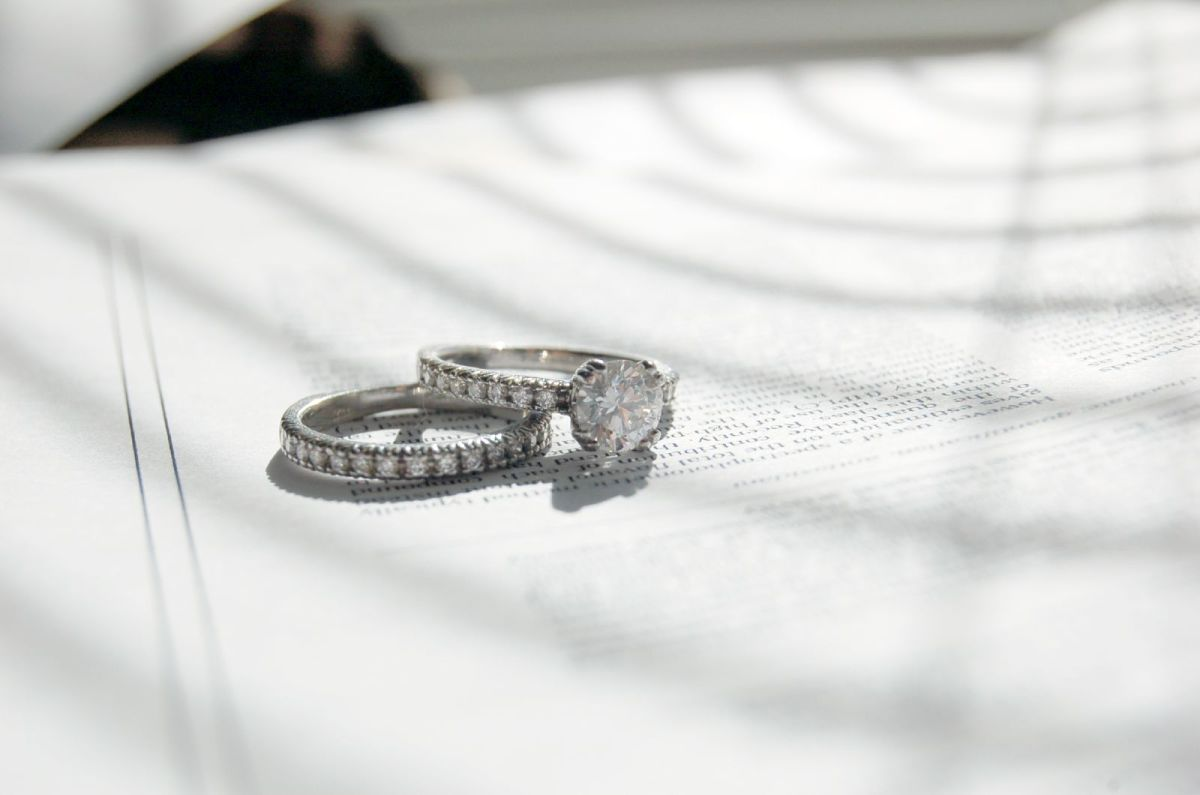 """The owner says it took about 6 weeks to pick out this ring. """"I think I went to . . . every jewelry store in the greater Boston area, and every jewelry website I could find . . . kept going back . . . and eventually brought it home."""""""