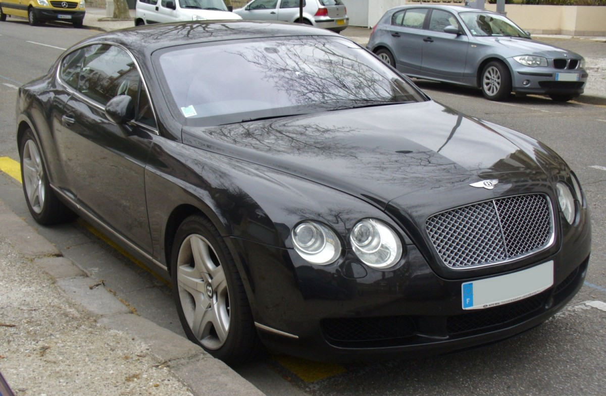 The luxurious Bentley Continental GT.