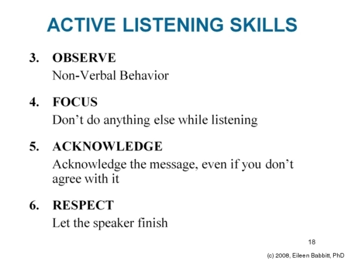 research paper on active listening training