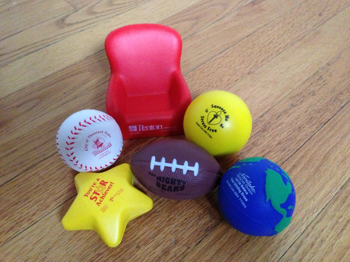 Promotional stress balls come in a variety of shapes.