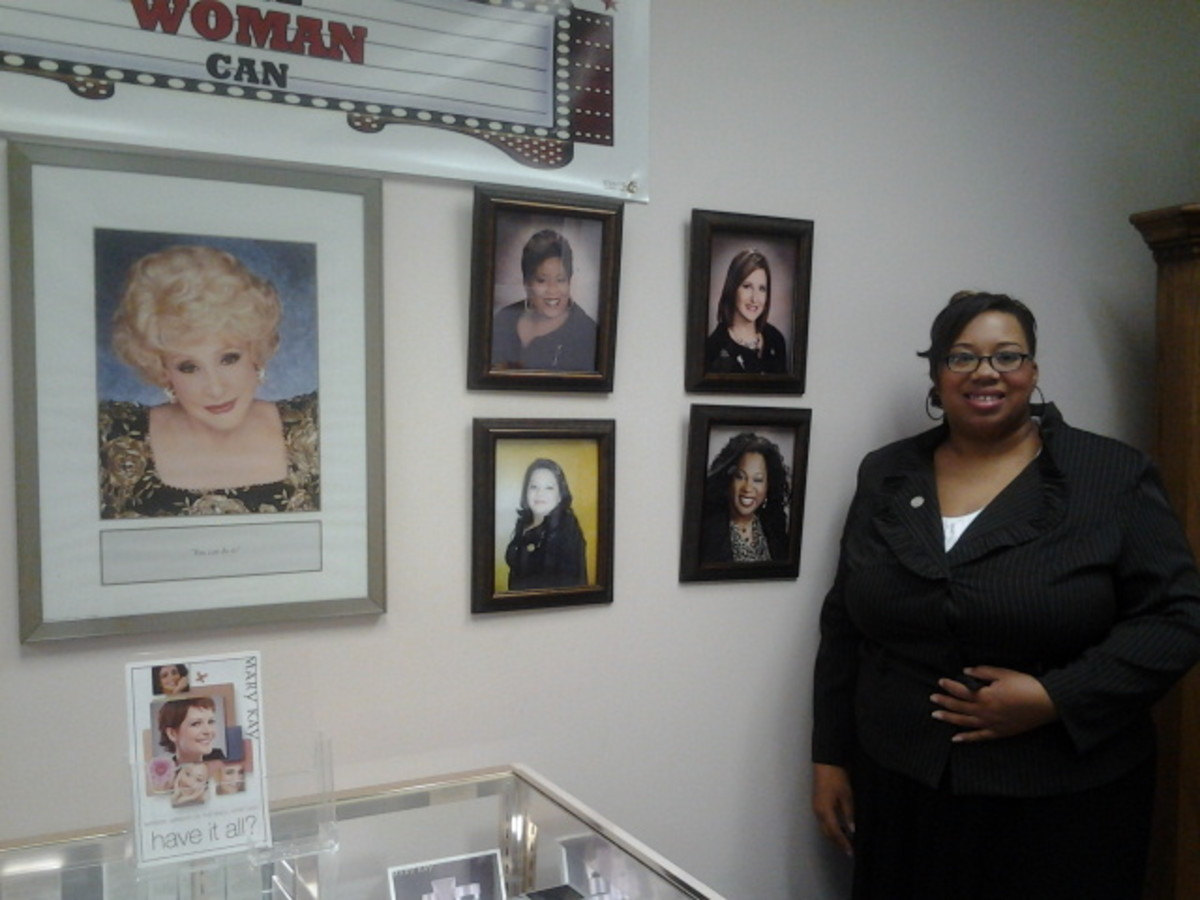 Original photo of me at a Mary Kay meeting at the Pink Cadillac Event Center in Charlotte, NC