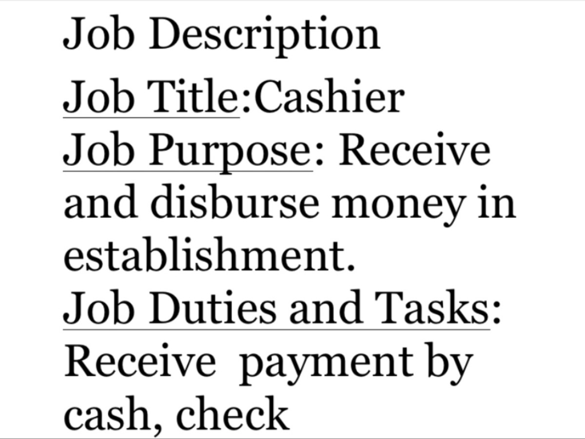 To properly create a job description, one must include several elements of the job.