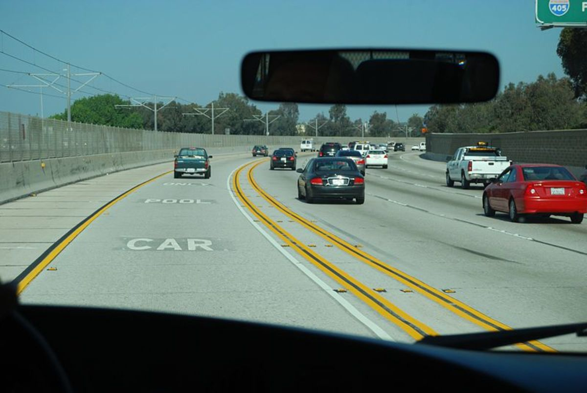 Car pooling not only saves you money but you get to use the car pooling lane to save you time on your journey.
