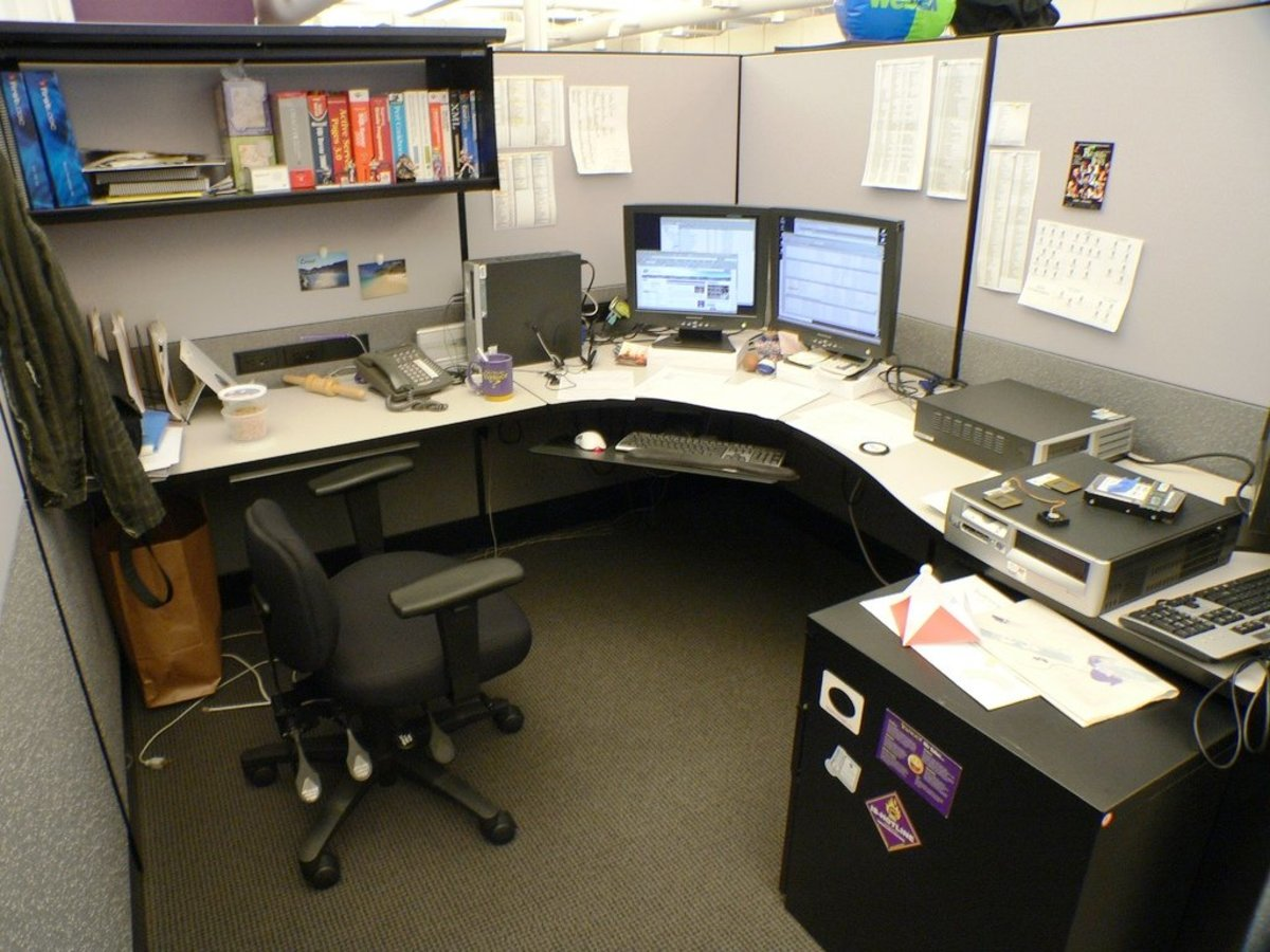 Make your cubicle your home away from home.  Customize it the best you can.  You've got to live here at least 40 hours a week, so you might as well love it.