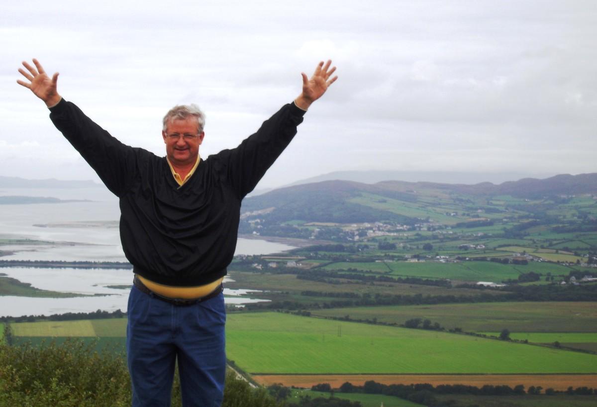 Embrace who you are.  There's only one YOU.  This is my dad in Ireland at Grianan of Aileach as he connects with the site of his ancestors who ruled Ireland and Scotland for centuries.