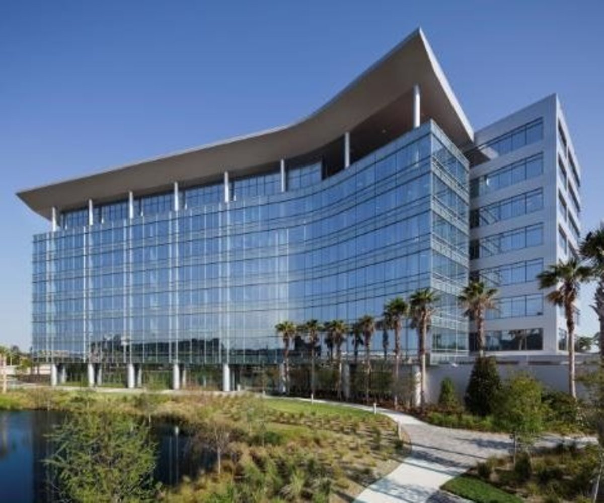 ISC's headquarters is a gleaming tower of steel and glass built on racing profits