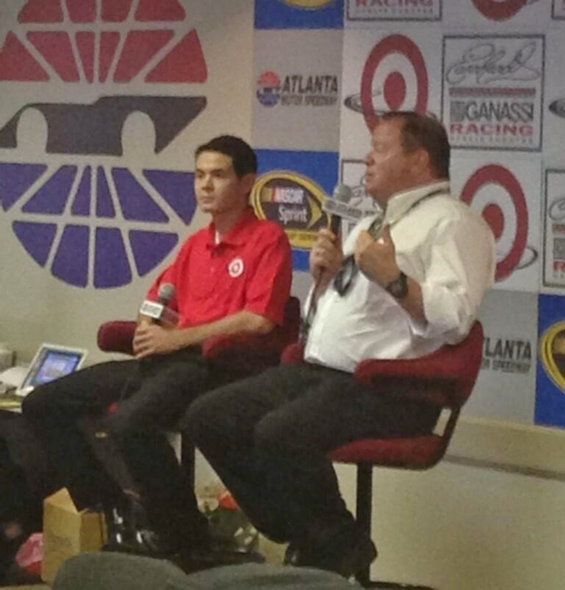 Chip Ganassi hopes that Kyle Larson (left) is the next big thing NASCAR needs to kickoff another growth spurt
