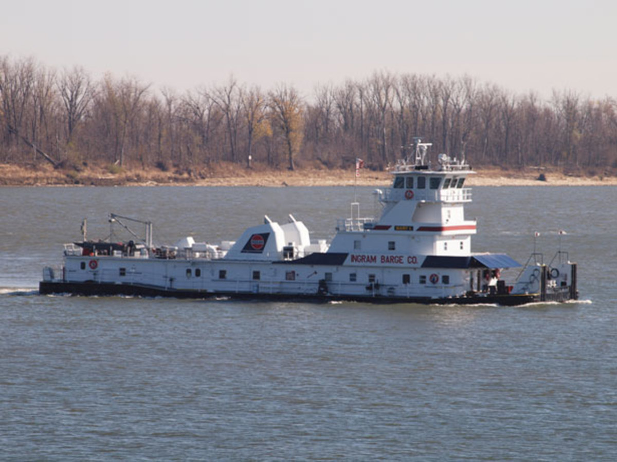 A typical modern day towboat.