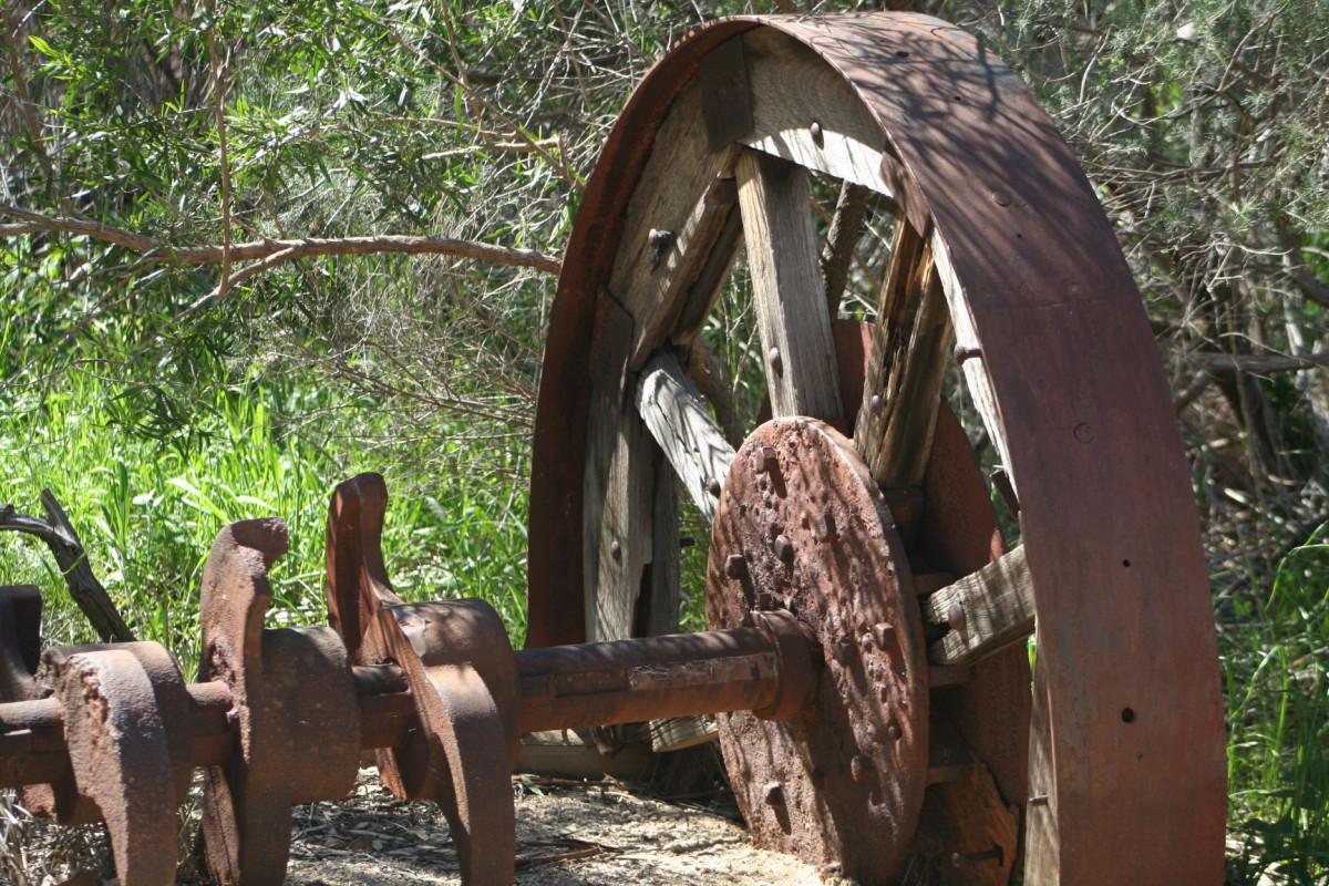 I love seeing old equipment and imagining it in full production during the early gold rush days.