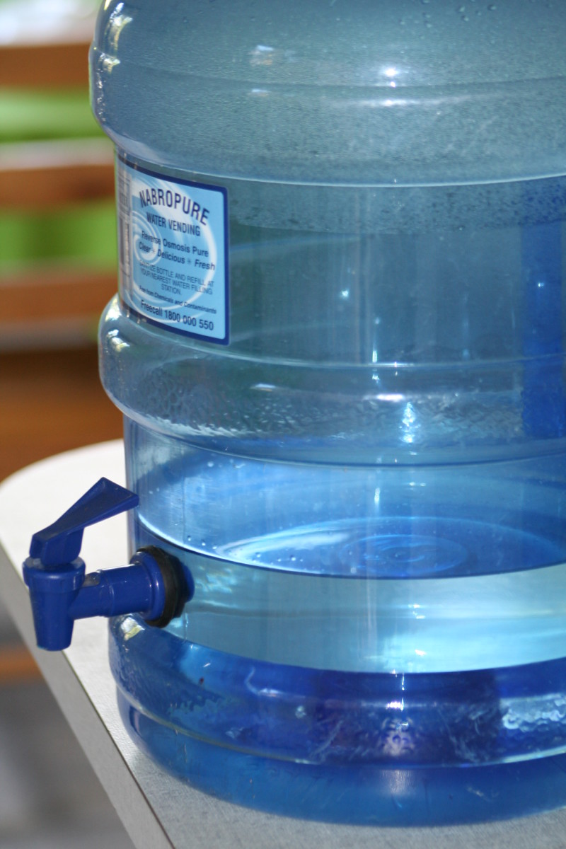 Keep fresh water on hand for drinking and cooking. Find an outlet that sells healthy clean drinking water. Don't risk drinking contaminated water. Water for washing and bathing should ideally be kept separate to your valuable drinking water.