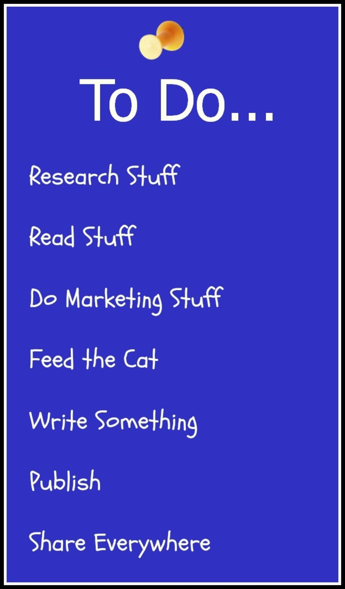 Writer's to-do list.