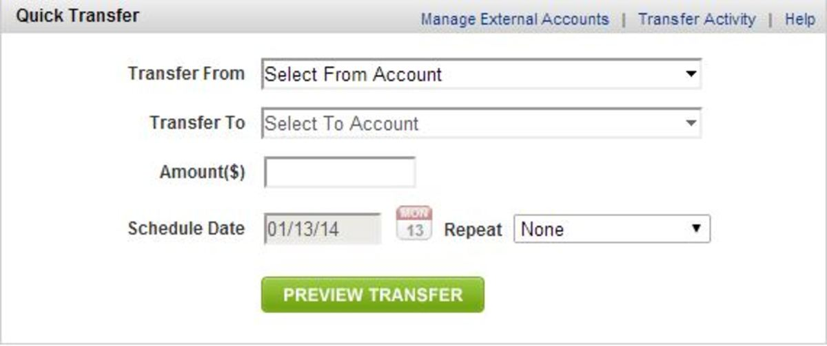 Online investment companies allow you to set up recurring transfers